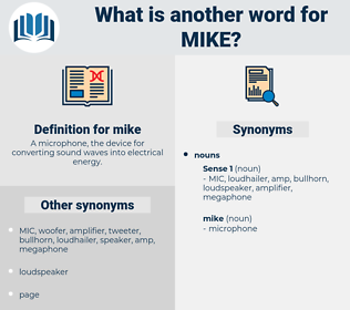 mike, synonym mike, another word for mike, words like mike, thesaurus mike