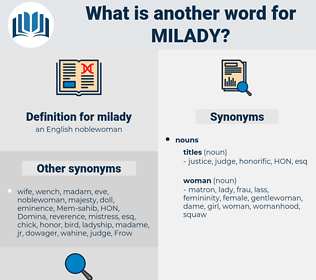 milady, synonym milady, another word for milady, words like milady, thesaurus milady