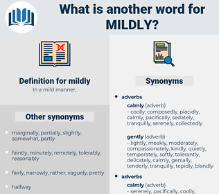 mildly, synonym mildly, another word for mildly, words like mildly, thesaurus mildly