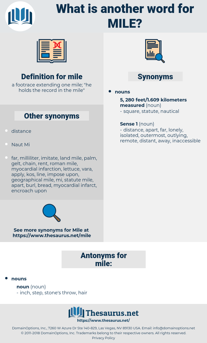 mile, synonym mile, another word for mile, words like mile, thesaurus mile