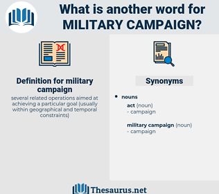 military campaign, synonym military campaign, another word for military campaign, words like military campaign, thesaurus military campaign