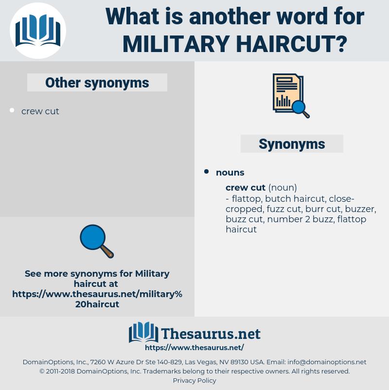 military haircut, synonym military haircut, another word for military haircut, words like military haircut, thesaurus military haircut