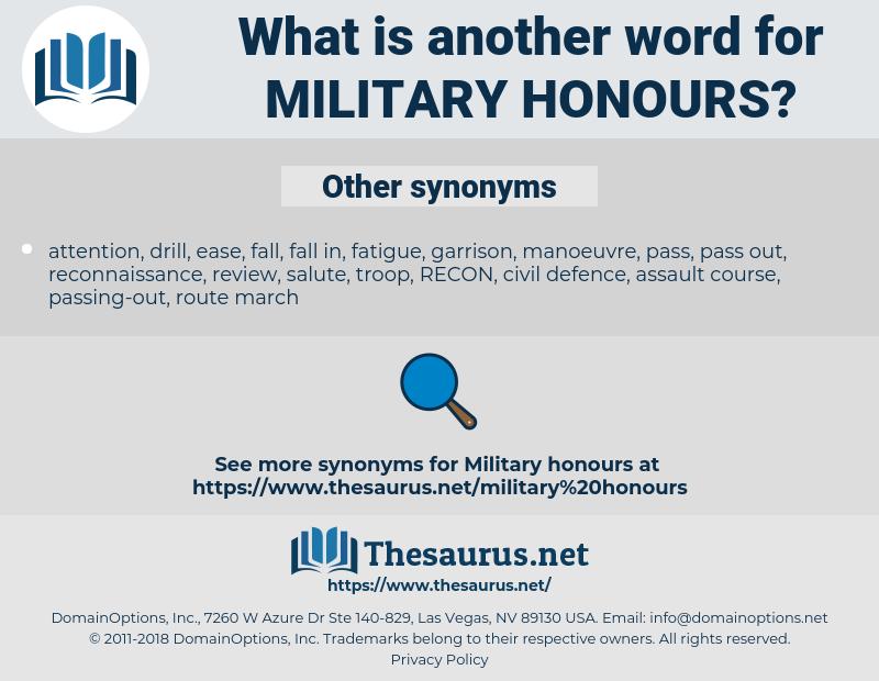 military honours, synonym military honours, another word for military honours, words like military honours, thesaurus military honours
