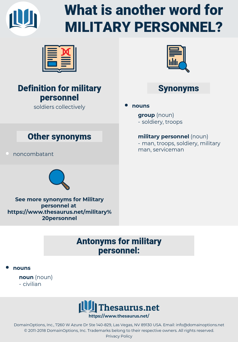 military personnel, synonym military personnel, another word for military personnel, words like military personnel, thesaurus military personnel