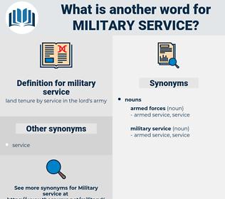 military service, synonym military service, another word for military service, words like military service, thesaurus military service