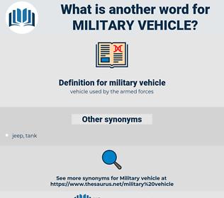 military vehicle, synonym military vehicle, another word for military vehicle, words like military vehicle, thesaurus military vehicle