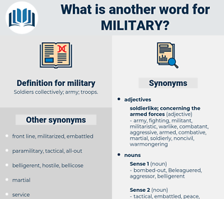 military, synonym military, another word for military, words like military, thesaurus military