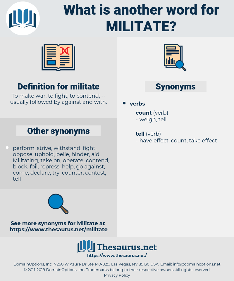 militate, synonym militate, another word for militate, words like militate, thesaurus militate