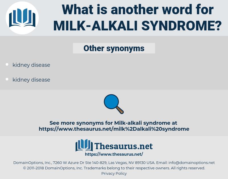 milk-alkali syndrome, synonym milk-alkali syndrome, another word for milk-alkali syndrome, words like milk-alkali syndrome, thesaurus milk-alkali syndrome