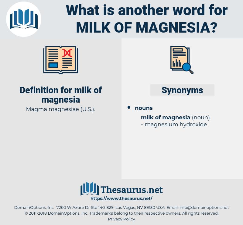 milk of magnesia, synonym milk of magnesia, another word for milk of magnesia, words like milk of magnesia, thesaurus milk of magnesia