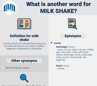milk shake, synonym milk shake, another word for milk shake, words like milk shake, thesaurus milk shake
