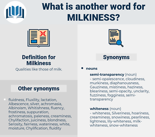 Milkiness, synonym Milkiness, another word for Milkiness, words like Milkiness, thesaurus Milkiness