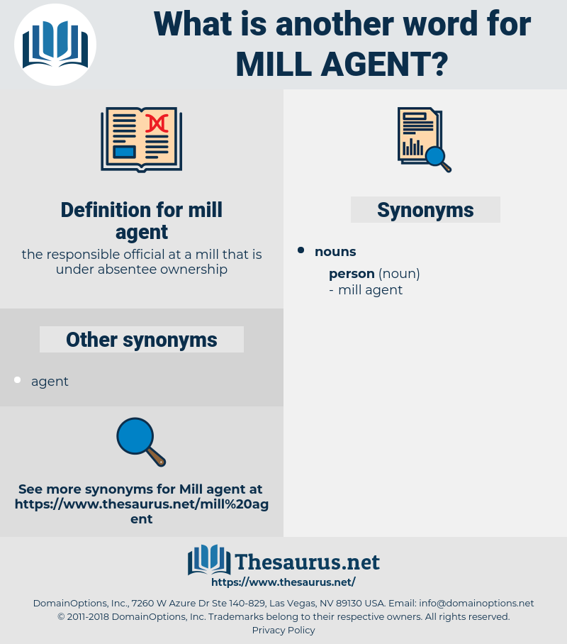 mill agent, synonym mill agent, another word for mill agent, words like mill agent, thesaurus mill agent