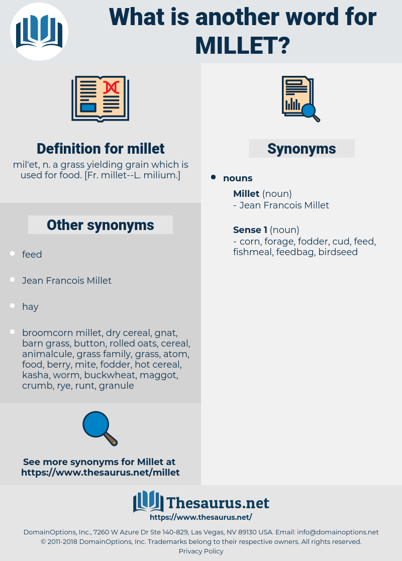 millet, synonym millet, another word for millet, words like millet, thesaurus millet
