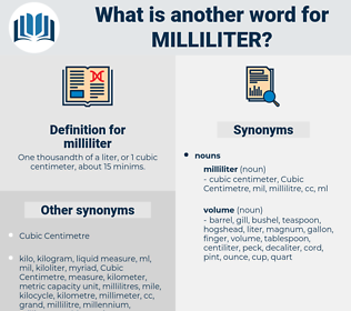 milliliter, synonym milliliter, another word for milliliter, words like milliliter, thesaurus milliliter