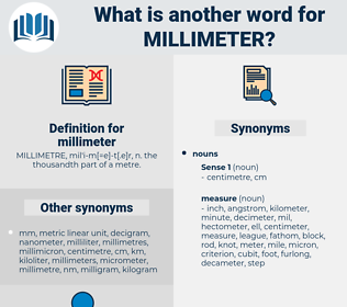 millimeter, synonym millimeter, another word for millimeter, words like millimeter, thesaurus millimeter