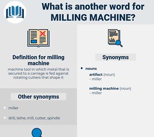 milling machine, synonym milling machine, another word for milling machine, words like milling machine, thesaurus milling machine