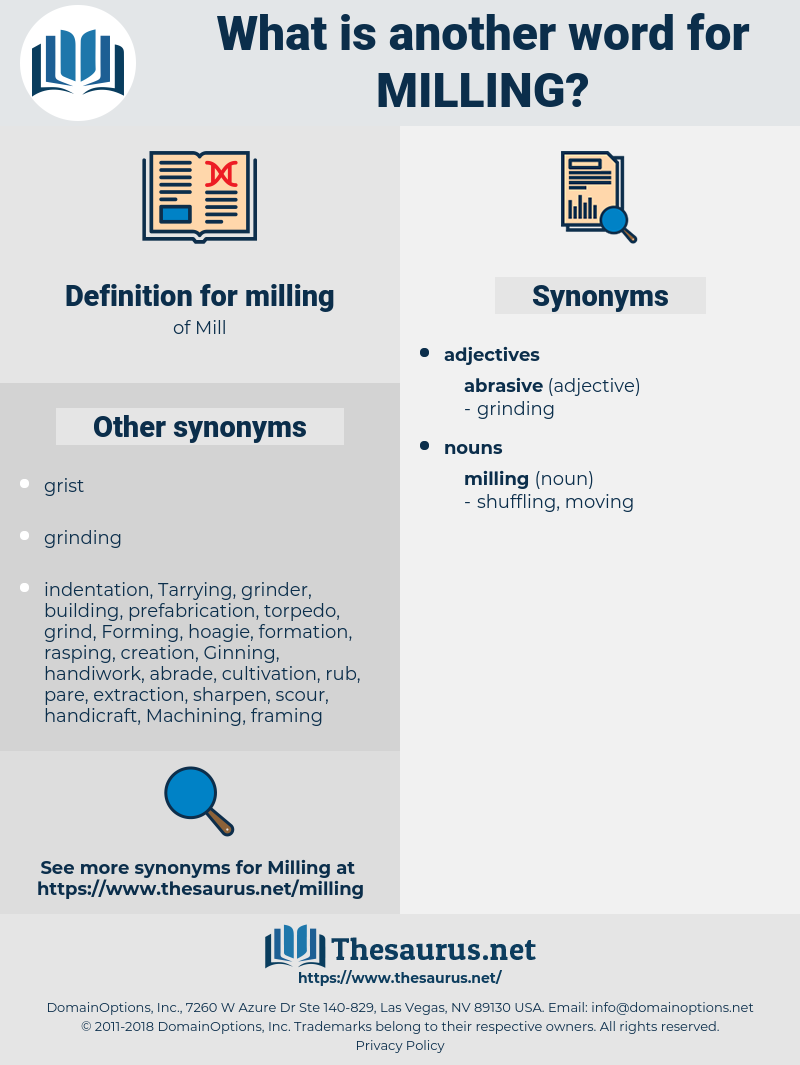 milling, synonym milling, another word for milling, words like milling, thesaurus milling