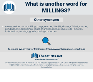millings, synonym millings, another word for millings, words like millings, thesaurus millings