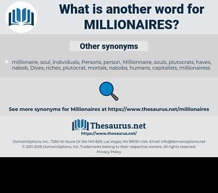 millionaires, synonym millionaires, another word for millionaires, words like millionaires, thesaurus millionaires
