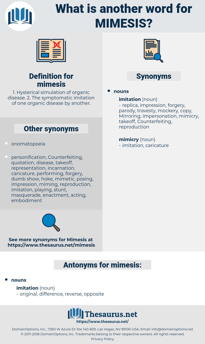 mimesis, synonym mimesis, another word for mimesis, words like mimesis, thesaurus mimesis