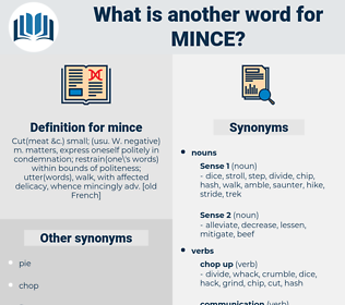 mince, synonym mince, another word for mince, words like mince, thesaurus mince
