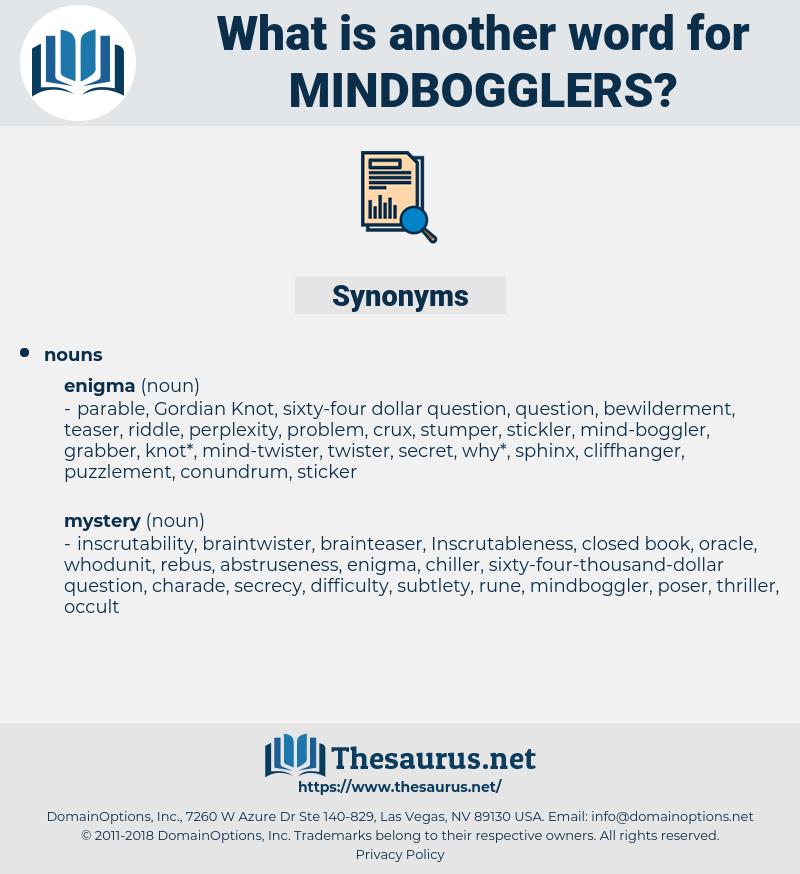 mindbogglers, synonym mindbogglers, another word for mindbogglers, words like mindbogglers, thesaurus mindbogglers