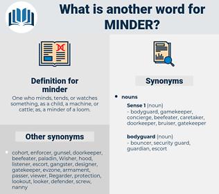 minder, synonym minder, another word for minder, words like minder, thesaurus minder