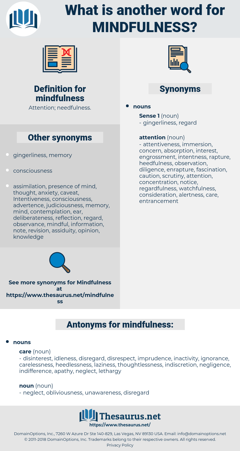 mindfulness, synonym mindfulness, another word for mindfulness, words like mindfulness, thesaurus mindfulness