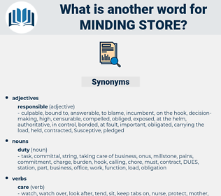 minding store, synonym minding store, another word for minding store, words like minding store, thesaurus minding store