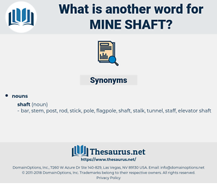 mine shaft, synonym mine shaft, another word for mine shaft, words like mine shaft, thesaurus mine shaft