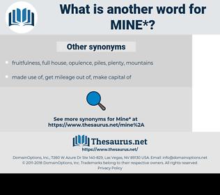 mine, synonym mine, another word for mine, words like mine, thesaurus mine