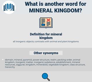 mineral kingdom, synonym mineral kingdom, another word for mineral kingdom, words like mineral kingdom, thesaurus mineral kingdom