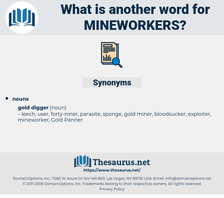 mineworkers, synonym mineworkers, another word for mineworkers, words like mineworkers, thesaurus mineworkers