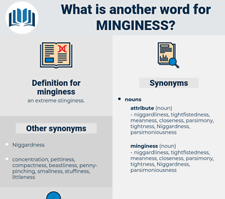 minginess, synonym minginess, another word for minginess, words like minginess, thesaurus minginess
