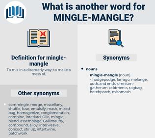 mingle-mangle, synonym mingle-mangle, another word for mingle-mangle, words like mingle-mangle, thesaurus mingle-mangle