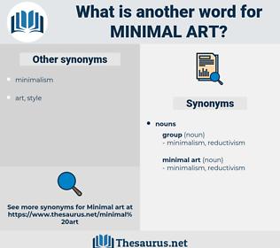 minimal art, synonym minimal art, another word for minimal art, words like minimal art, thesaurus minimal art