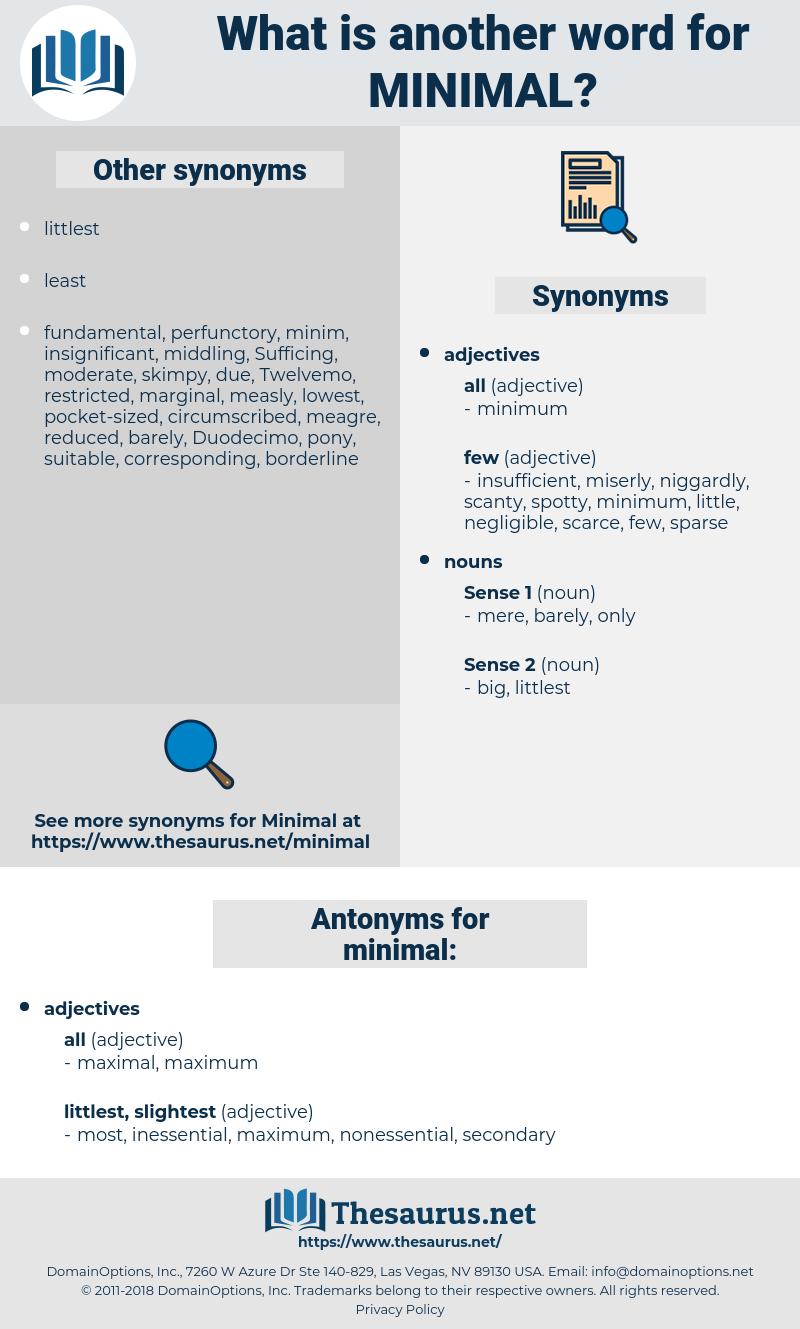 minimal, synonym minimal, another word for minimal, words like minimal, thesaurus minimal