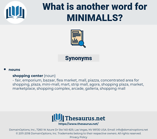 minimalls, synonym minimalls, another word for minimalls, words like minimalls, thesaurus minimalls