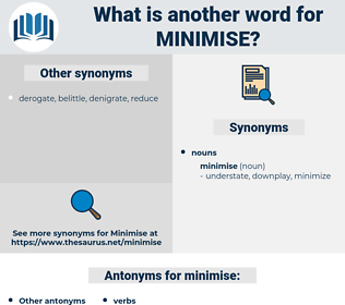 minimise, synonym minimise, another word for minimise, words like minimise, thesaurus minimise