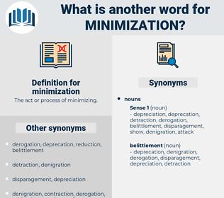 minimization, synonym minimization, another word for minimization, words like minimization, thesaurus minimization