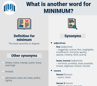minimum, synonym minimum, another word for minimum, words like minimum, thesaurus minimum