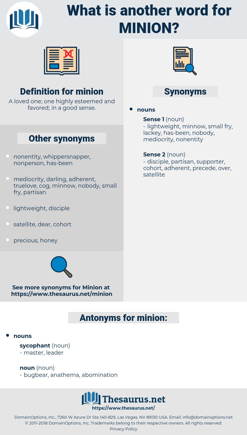 minion, synonym minion, another word for minion, words like minion, thesaurus minion