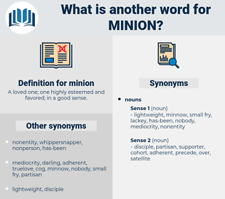 minion, synonym minion, another word for minion, words like minion, thesaurus minion