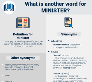 minister, synonym minister, another word for minister, words like minister, thesaurus minister
