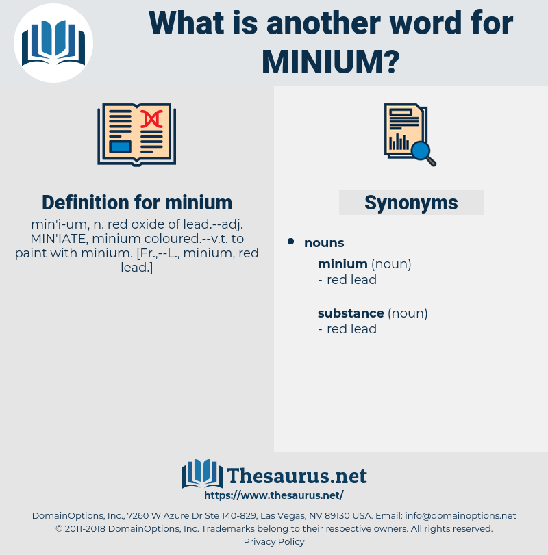 minium, synonym minium, another word for minium, words like minium, thesaurus minium