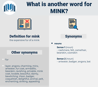 mink, synonym mink, another word for mink, words like mink, thesaurus mink
