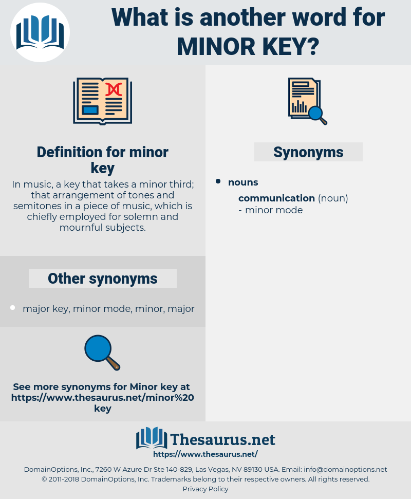 minor key, synonym minor key, another word for minor key, words like minor key, thesaurus minor key