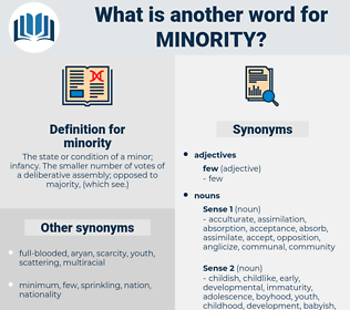 minority, synonym minority, another word for minority, words like minority, thesaurus minority