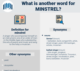 minstrel, synonym minstrel, another word for minstrel, words like minstrel, thesaurus minstrel